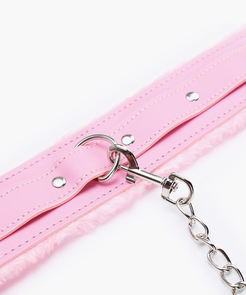 핑크 스웨이드 목줄