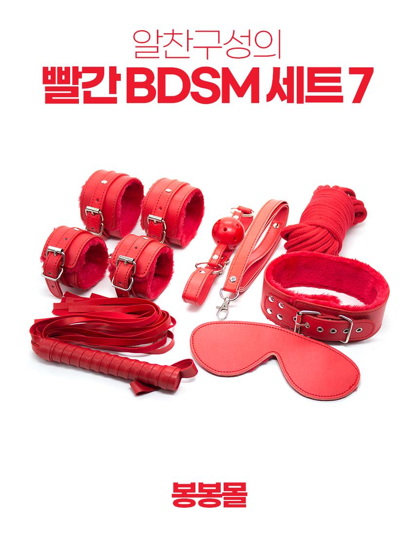 빨간 BDSM 7종 세트