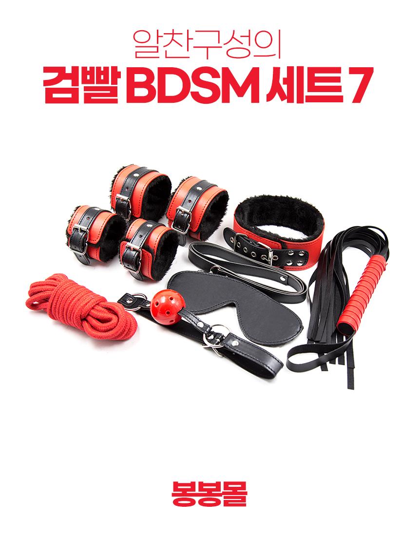 검빨 BDSM 7종 세트
