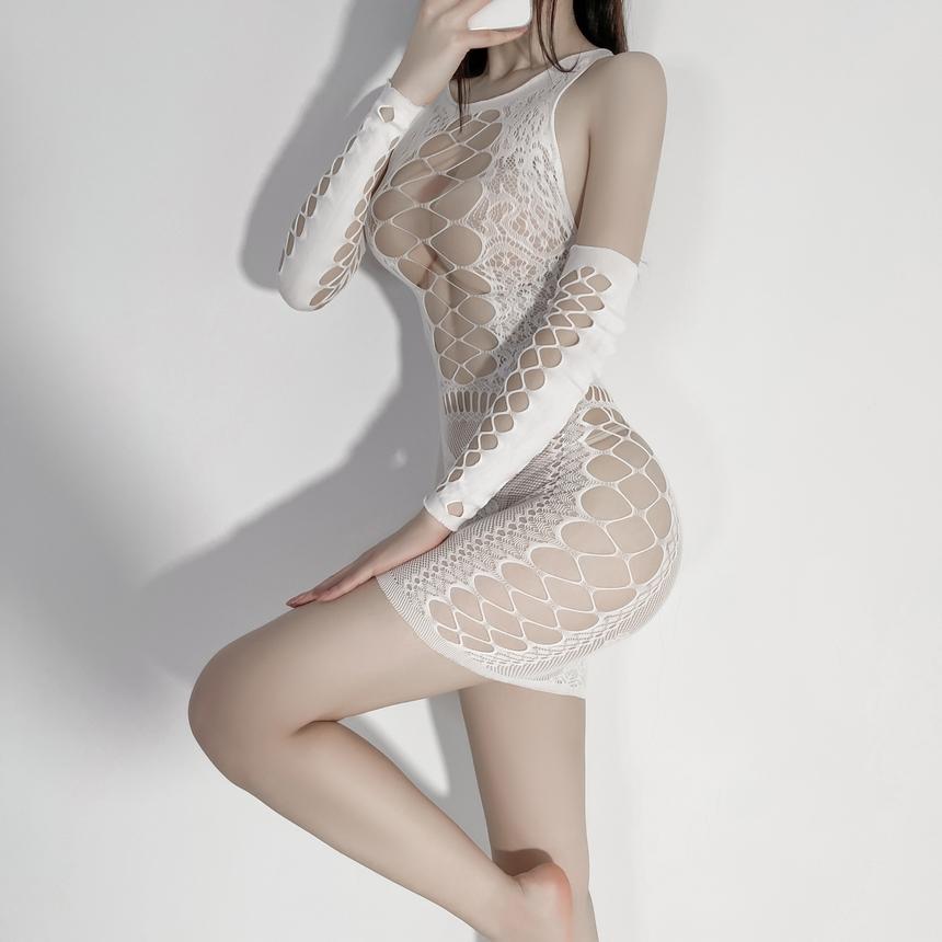 하얀 나비 바디스타킹