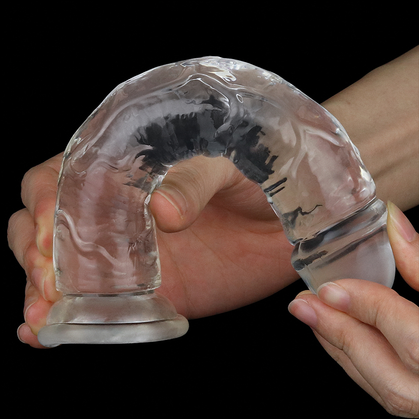 플로리스 클리어 투명 젤리 딜도 7인치